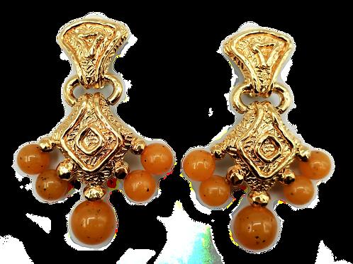 Guy Laroche Amber Earrings