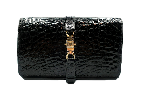 Céline Trio Crocodile Leather Bag