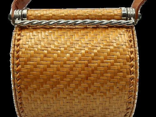 Rodo Raffia Box Bag