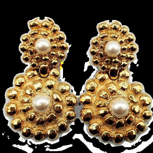 Guy Laroche Pearl Drop Earrings