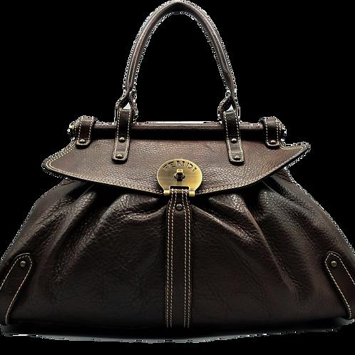 Fendi Brown Leather Selleria Handbag