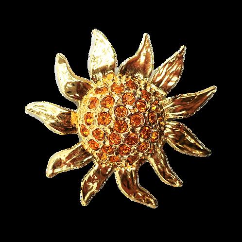 YSL Sun Brooch