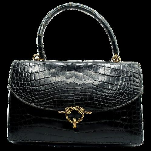 Hermès Croco Cordeliere Handbag