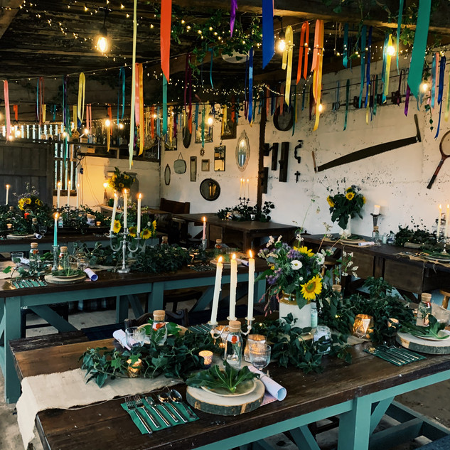 The Out bar, The Rewilding, Lancaster, Event Dressing