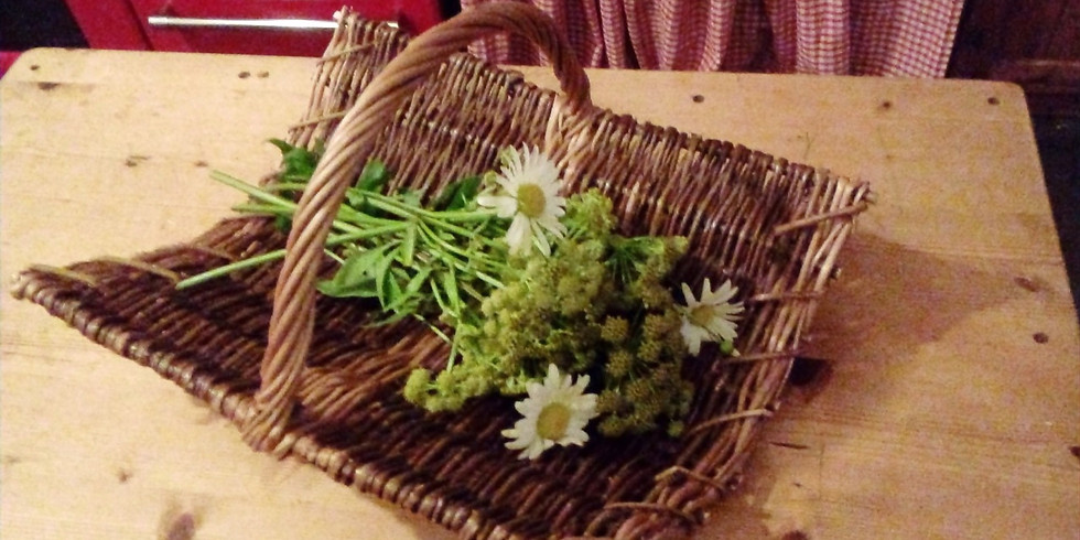 Make a Willow Woven Foraging Basket with Handle