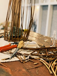 Willow Basket Making, Pip Cottage at The