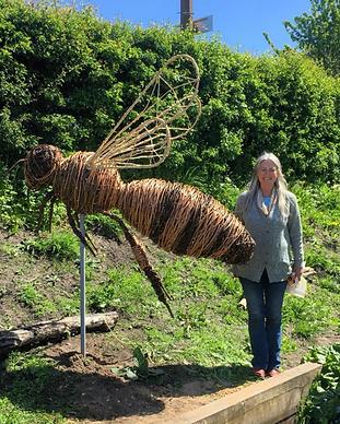 Julie at Pip Cottage, The Rewilding, Lan