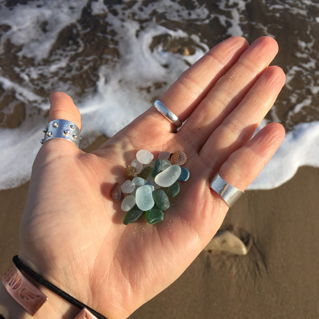 The Rewilding, Michelle Parry, Lancaster, Collecting Sea Glass.JPG