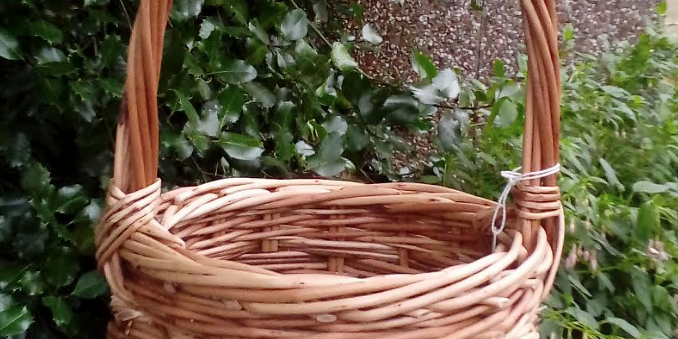 Make a Traditional English Round Willow Woven Basket with Handle