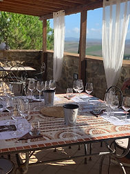 Wine and food pairing during Brunello wine tour in Montalcino