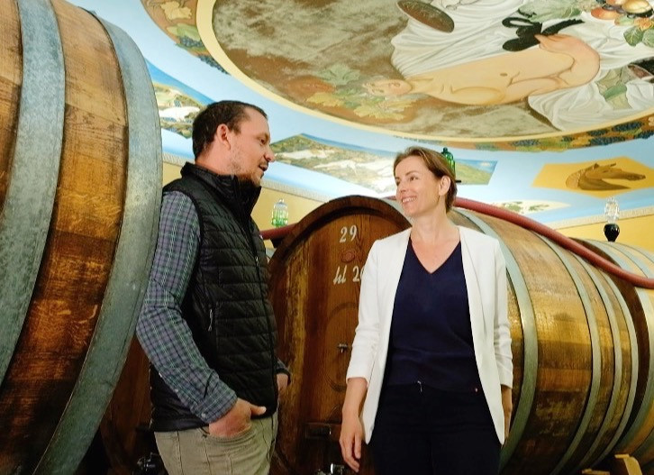 Select Tasting's Alexandra Adamek with Lorenzo Magnelli of Le Chiuse