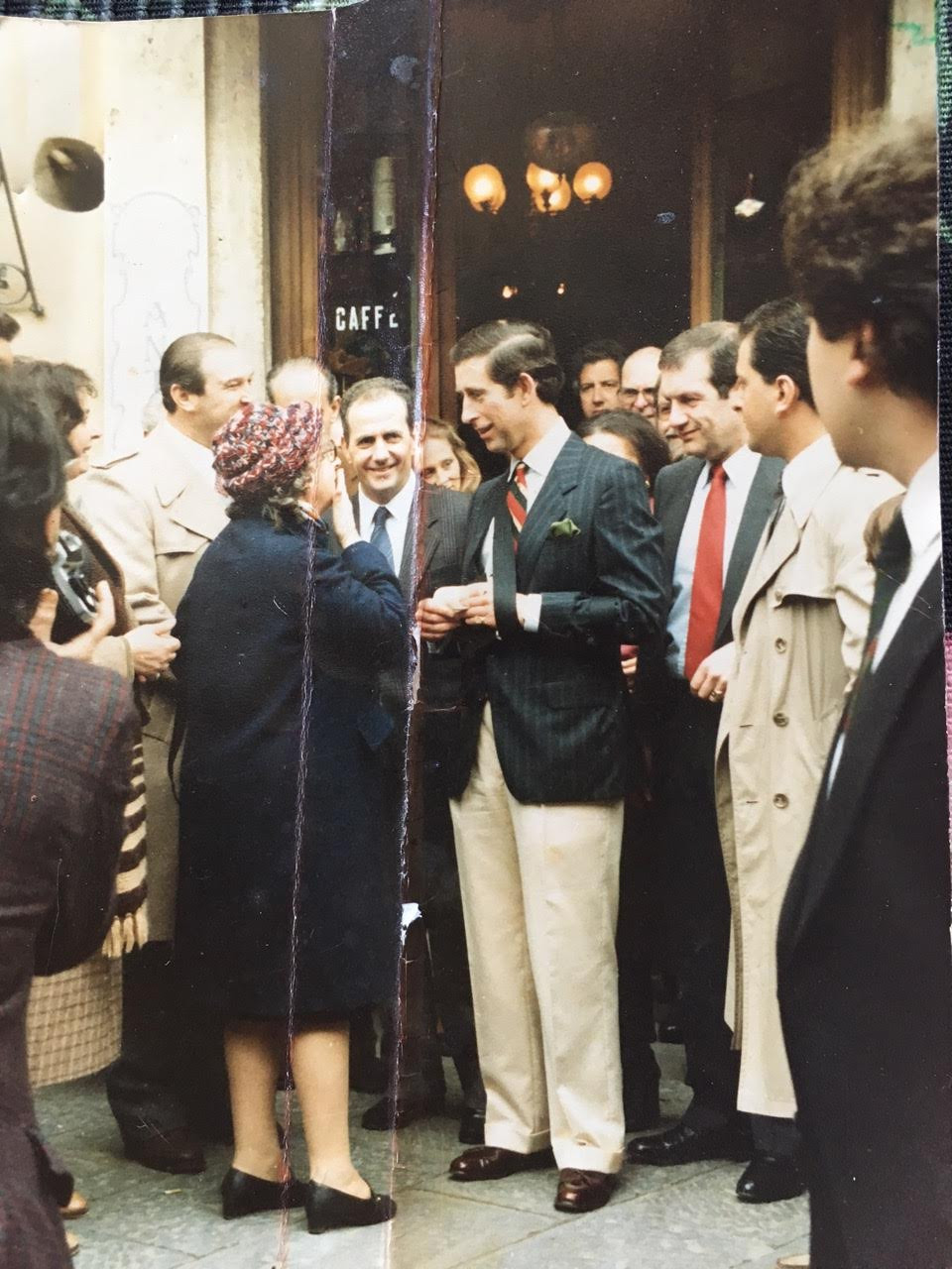 Prince Charles in Montalcino Italy