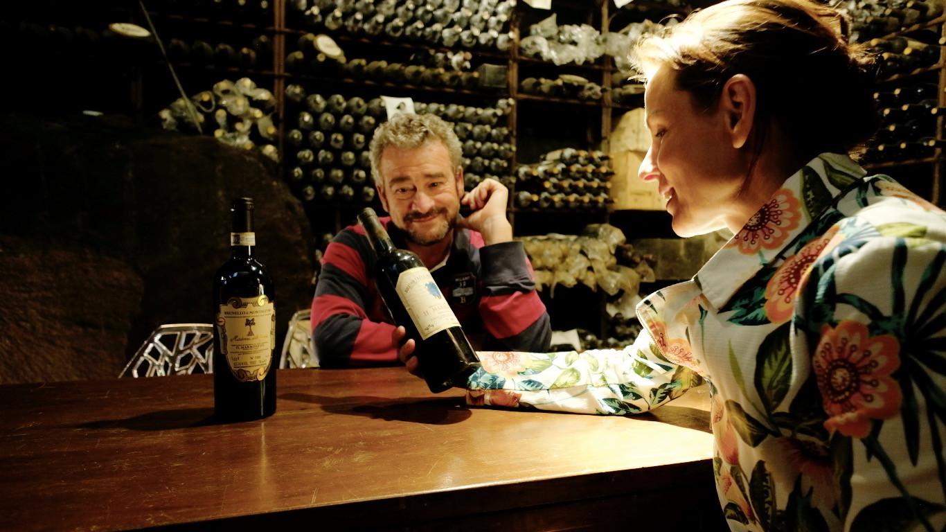 Select Tasting's Alexandra Adamek with Il Marroneto's Alessandro Mori