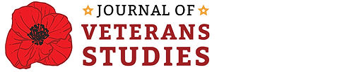 """Journal of Veterans Studies"" nameplate comprises an image of a red poppy and the title of the journal."