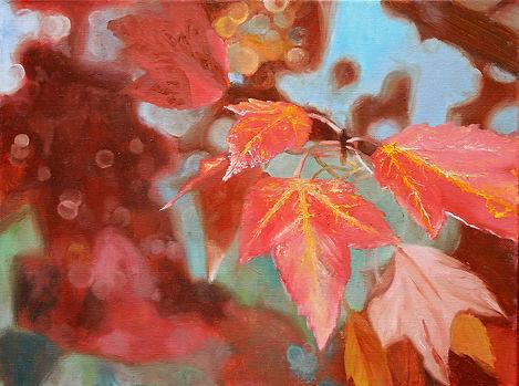 """""""Autumn"""" oil on canvas, 9""""x12"""""""