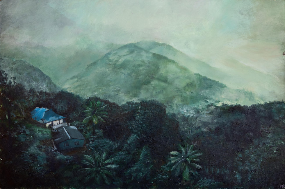 """Munnar"" Oil on Panel, 2'x3' 2019"