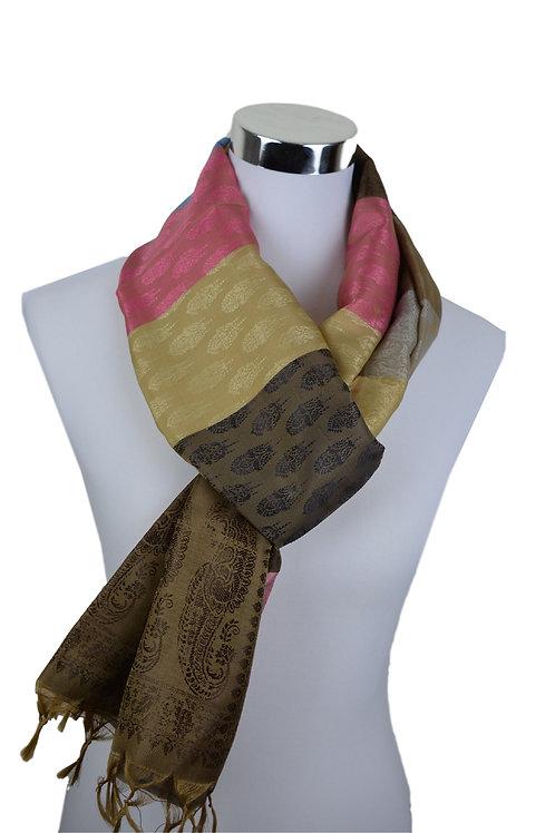 Madras style Seide Schal (Tri color)