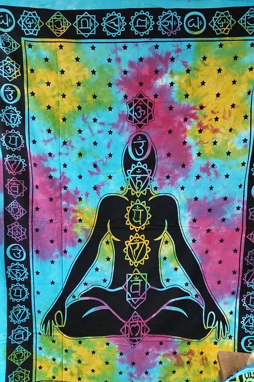 7 Chakra's Wandtüchern / Tagesdecke