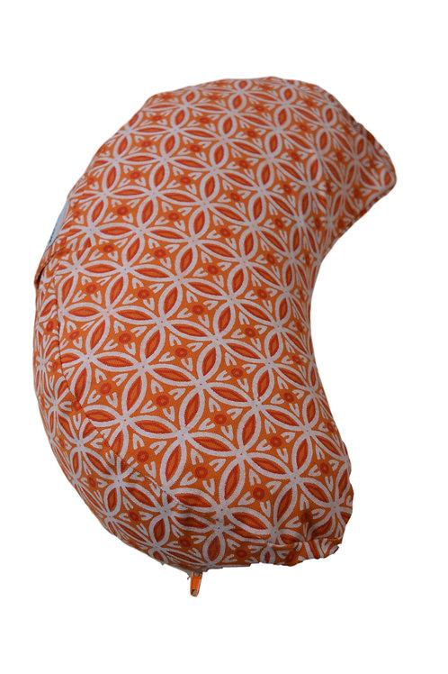 Tvamm Lifestyle Halbmond  Meditationskissen- Orange Muster
