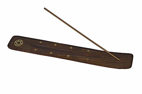 Räucherstäbchenhalter aus holz (Stern)