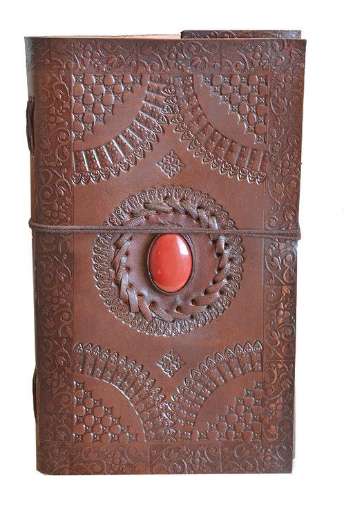 Leder Persönliches Journal Notizbücher(Rot Stein)