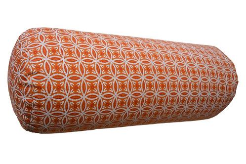 Yoga Bolster - Orange Muster