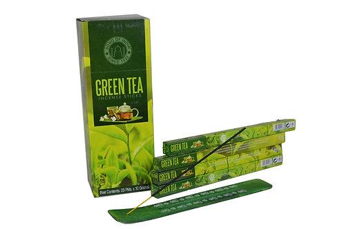 Räucherstäbchen Green Tea pro Packung  (8 stück)  .