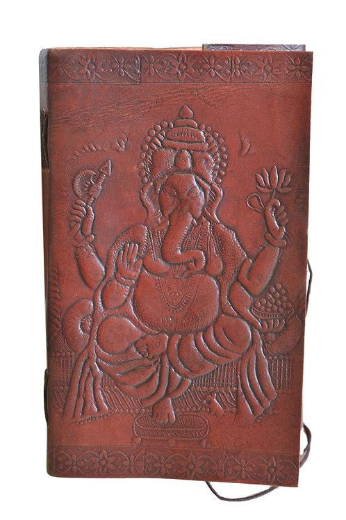 Leder Persönliches Journal Notizbücher-Ganesh