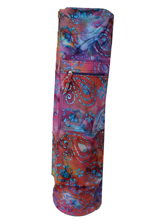 Yogamatte Tasche Batik Stoff model(05)