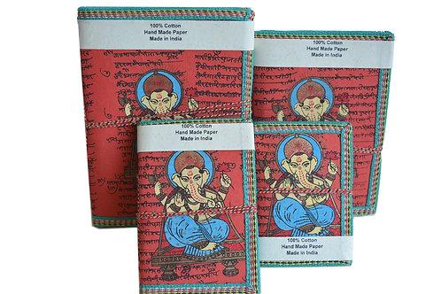 Ganesha Satz von 4 Notizbuch