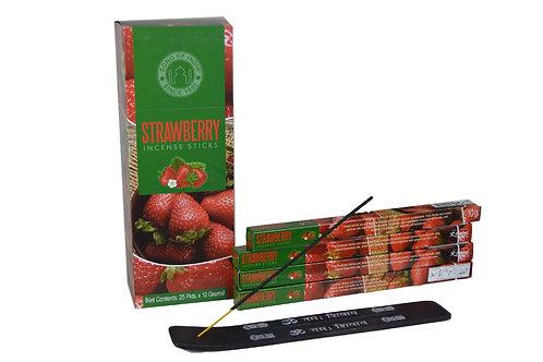 Räucherstäbchen Strawberry proPackung  ( 8 stück)  .
