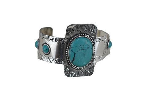 Armband Hippie türkis stein