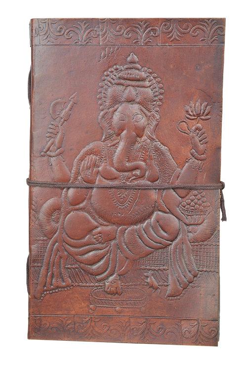 Leder Persönliches Journal Notizbücher- Ganesh 01