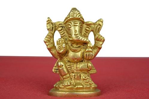 Ganesha Figur- Neu (Gluck Got) auf Messing