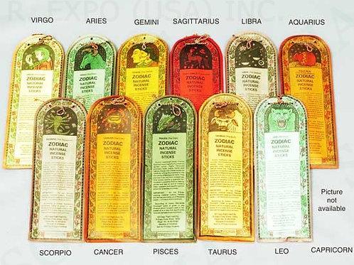 Zodiac Räucherstäbchen 12 unterschiedlich Duft