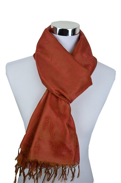 Madras style Seide Schal (Orange)