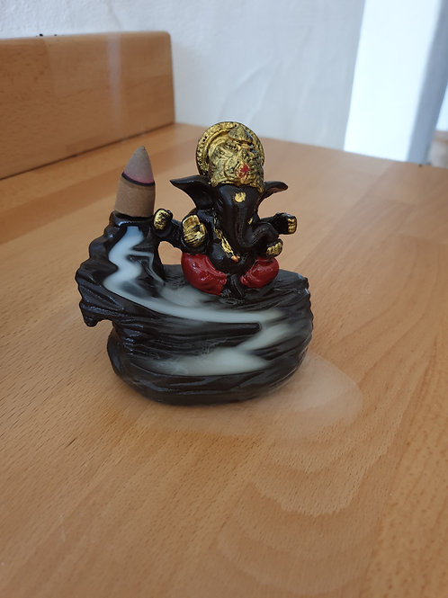 Ganesha backflow räucherkegel halter.