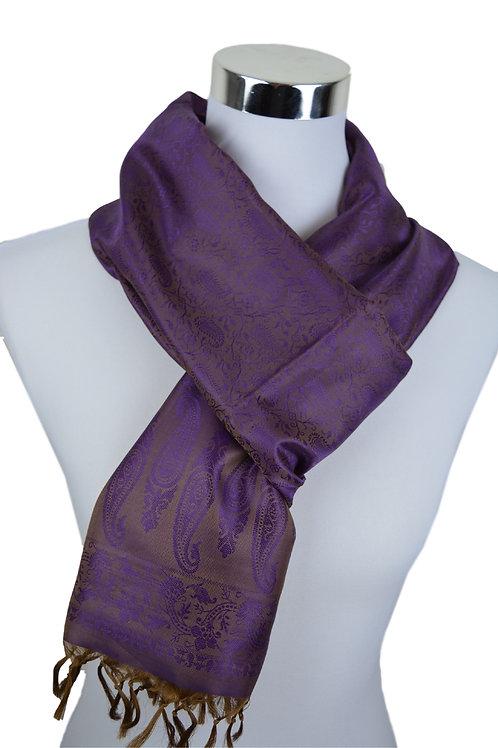 Madras style Seide Schal (Purple)