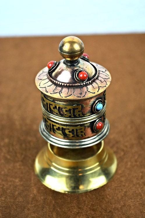 Tibeten Tisch prayer wheel