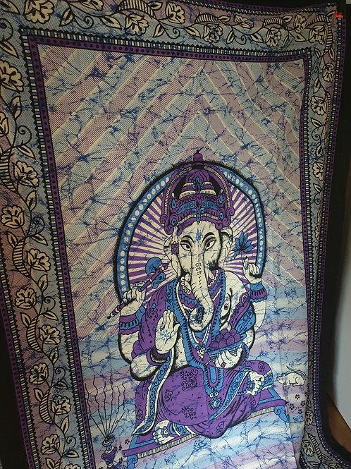 Wandtücher 100% Baumwolle  Ganesha.