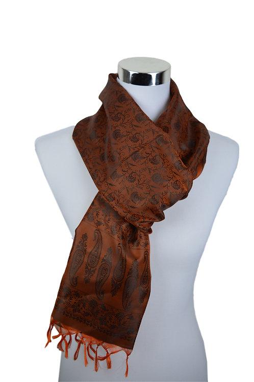 Madras style Seide Schal (Wood Brown)