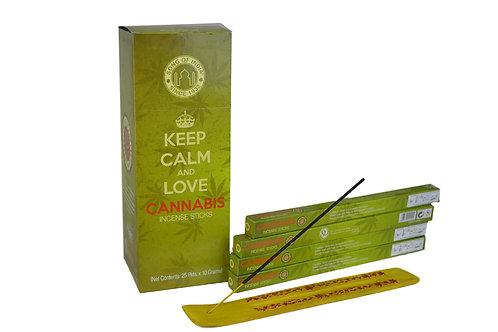 Räucherstäbchen Cannabis pro Packung  ( 8 stück)  .