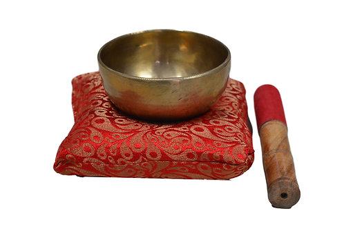 Klangschale Buddha 12 cm ( inklusive kissen und Klöppel)