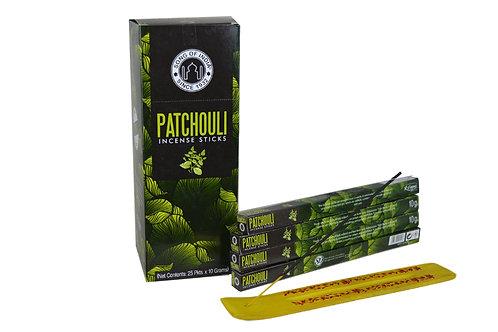 Räucherstäbchen Patchouli pro Packung  ( 8 stück)  .