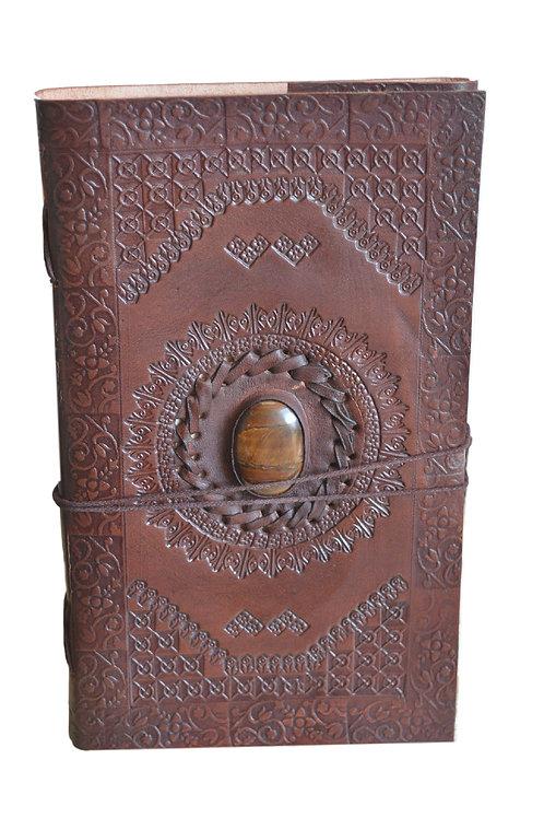 Leder Persönliches Journal Notizbücher-Brown stone