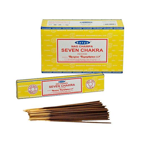 Satya Seven Chakra Räucherstäbchen