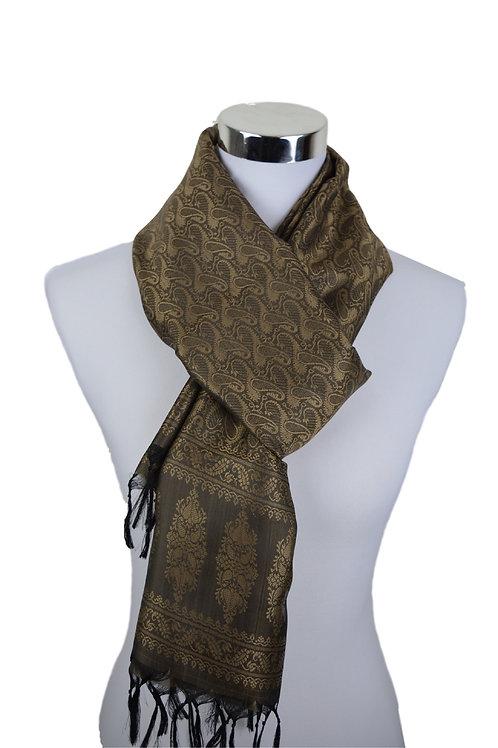 Madras style Seide Schal (Brown1)