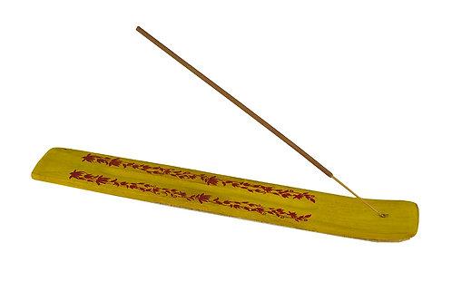 Räucherstäbchenhalter Multifarbe auf holz (Gelb)