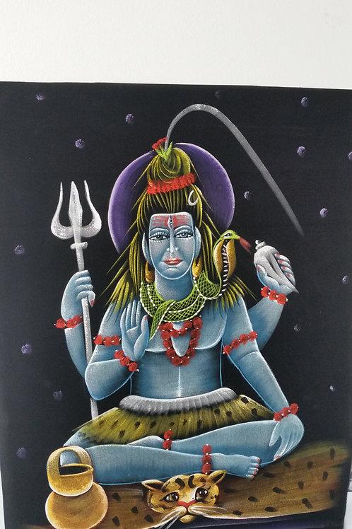 Hand gemaltes bild auf Stoff 70x50cm