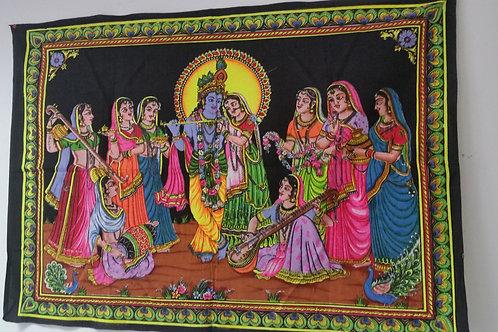 Wandtüchern Baumwolle aus Indien 110x75 cm